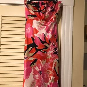 Silk banana republic strapless dress